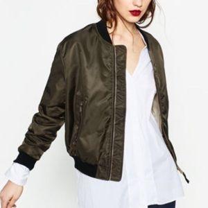 Zara Bomber Zip Up Jacket NWOT Size Medium